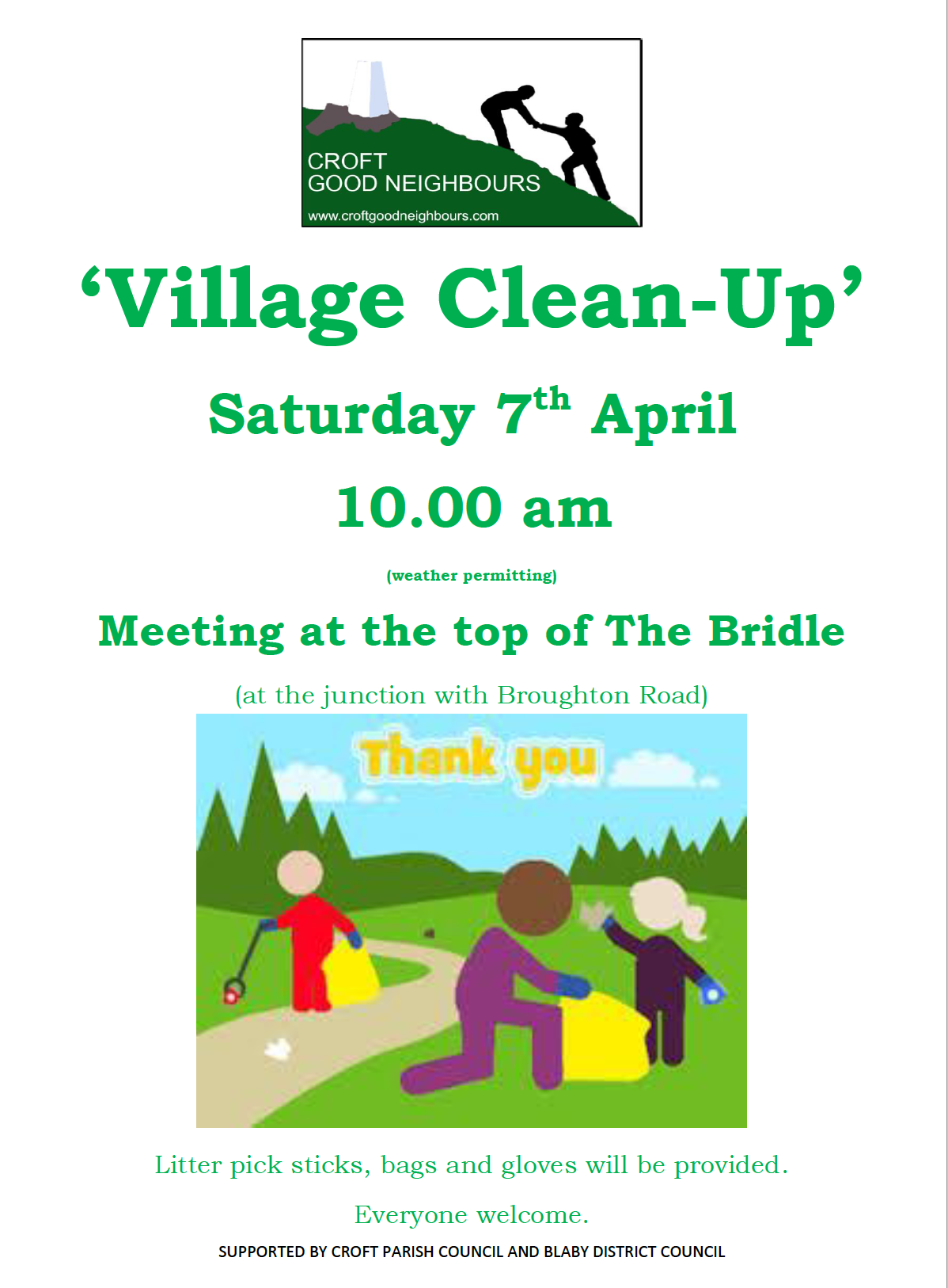 Village Clean Up Poster